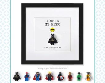 LEGO SUPERHERO - Lego hero mini figure - Perfect for Father's Day, birthday, Christmas - Marvel/Dc Comics - Batman/Spiderman/Superman - Dad