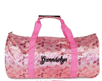 DANCERS BAG, Personalized Dance Bag, Ballerina Bag, Dance Duffle Bag, Little girls travel bag, girls duffle bag, girls dance bag, sport bag