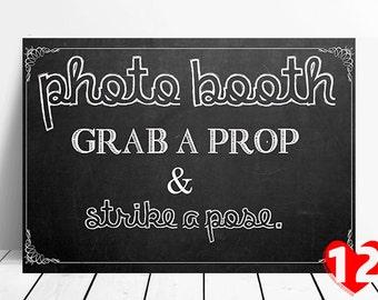 Chalkboard Style Wedding Sign- Photo Booth