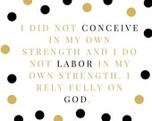 Labor & Birth Affirmation Cards
