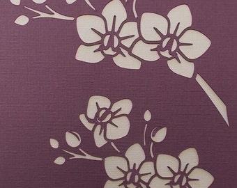 Orchid Sprays Stencil