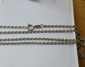 99 cm / 1.7 mm 835 anchor chain silver necklace SK897