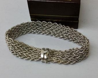 Great braided bracelet silver bracelet 925 SA200