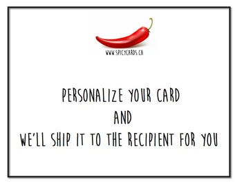 Personalize your card and we'll take care of shipping it