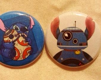 """Stitch BB8 Pin Buttons Set 1"""""""