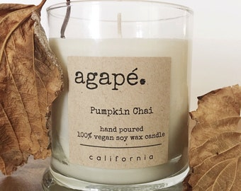 Pumpkin Chai candle, pumpkin candle, fall candle, fall scent, soy candle