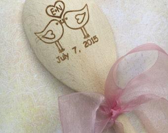 Wedding/anniversary personalised cooking utensil wooden spoon love spoon mr & mrs engraved spoon