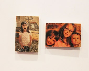 Wooden Photo Magnets - Your favorite photos on magnets!