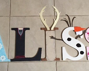 Frozen personalized name letters