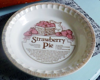 Strawberry Pie Plate Etsy