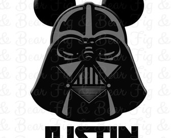 Mickey Mouse Darth Vader Personalized Mens T Shirt Iron On Transfer Personalized Free