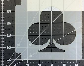 Card Suite Clubs Stencil 100