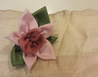 Handmade Orchid flower pin and hair clip