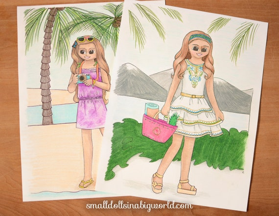american girl coloring pages lea - items similar to lea clark special coloring page pack