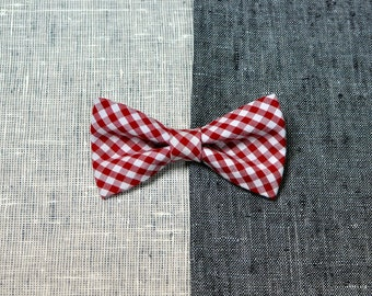 Red bow tie, checkered bow tie, christmas bow tie, wedding bow tie, men's bow tie, women's bow tie, baby bow tie, gift bow tie.