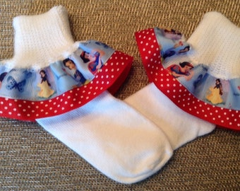 Snow White Ruffle Socks