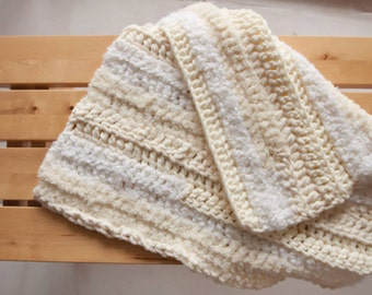 newborn blanket/layer, white/off-white/cream
