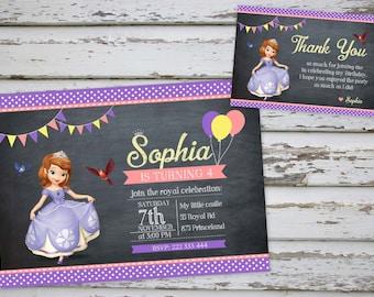 Sofía la primera invitación fiesta imprimible con tarjeta libre gracias