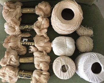 Lot of Vintage yarns and threads etc