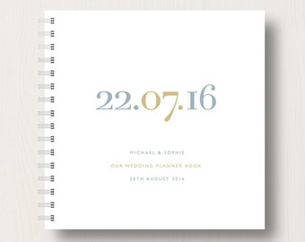 Personalised Wedding Date Book or Planner