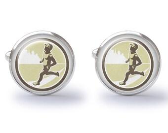 Runner Cufflinks (Pair) Lifetime Guarantee