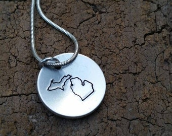 Michigan necklace.  State of Michigan necklace.  Michigan. Michigan jewelry. Michigan girl.  State of Michigan. Great Lakes.