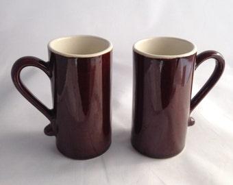 Vintage 1970 Demi Tasse Stoneware Coffee Cups