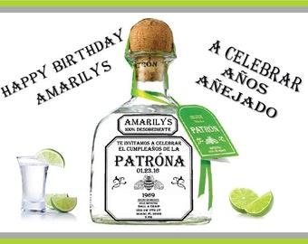 Patron Birthday Evite.