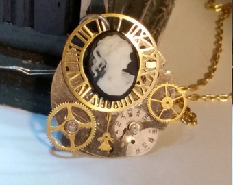 Steampunk Cameo with Gears