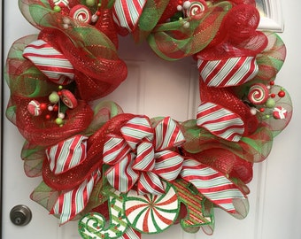 Deco Mesh Holiday Wreath