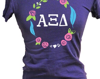 alpha xi delta sorority shirt greek stuff sorority gift azd sorority alpha xi delta letters azd colors welcome home to alpha xi delta