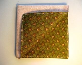 Green and Beige Pocket Square
