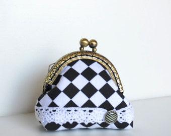 "Tiny coin purse ""Black&white"""
