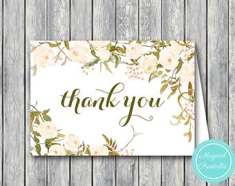 Wedding Thank you cards, Foldable Thank you notes, Wedding Favor Cards, Shower Favors, Bridal Shower Thank you cards, Favors WD87 WI29