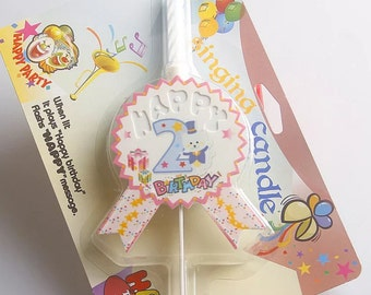 Happy Birthday Candle birthday party baby shower My 1st BIRTHDAY / with LED and birthday song / Party Decor