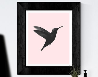 Bird Print, Printable Art, Black and White Print, Illustration Print, Minimalist Art, Scandinavian art, Home Decor Wall Art, Modern print