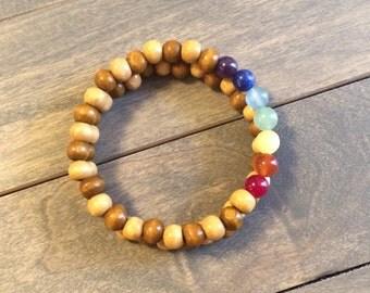 Stacked Bracelet, Intention Bracelet, Beaded Bracelet, Wood Bracelet, Nature Bracelet, Natural bracelets