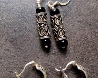 Vintage Silver two pairs of Earrings