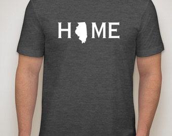 Illinois Home shirt, Illini, Illinois native, Illinois t shirt