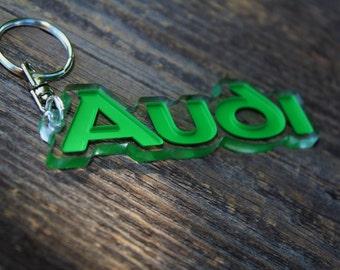 Audi keychain  Multicolor quattro turbo A3 S3 A4 S4 A6 S6 car auto accessory gift