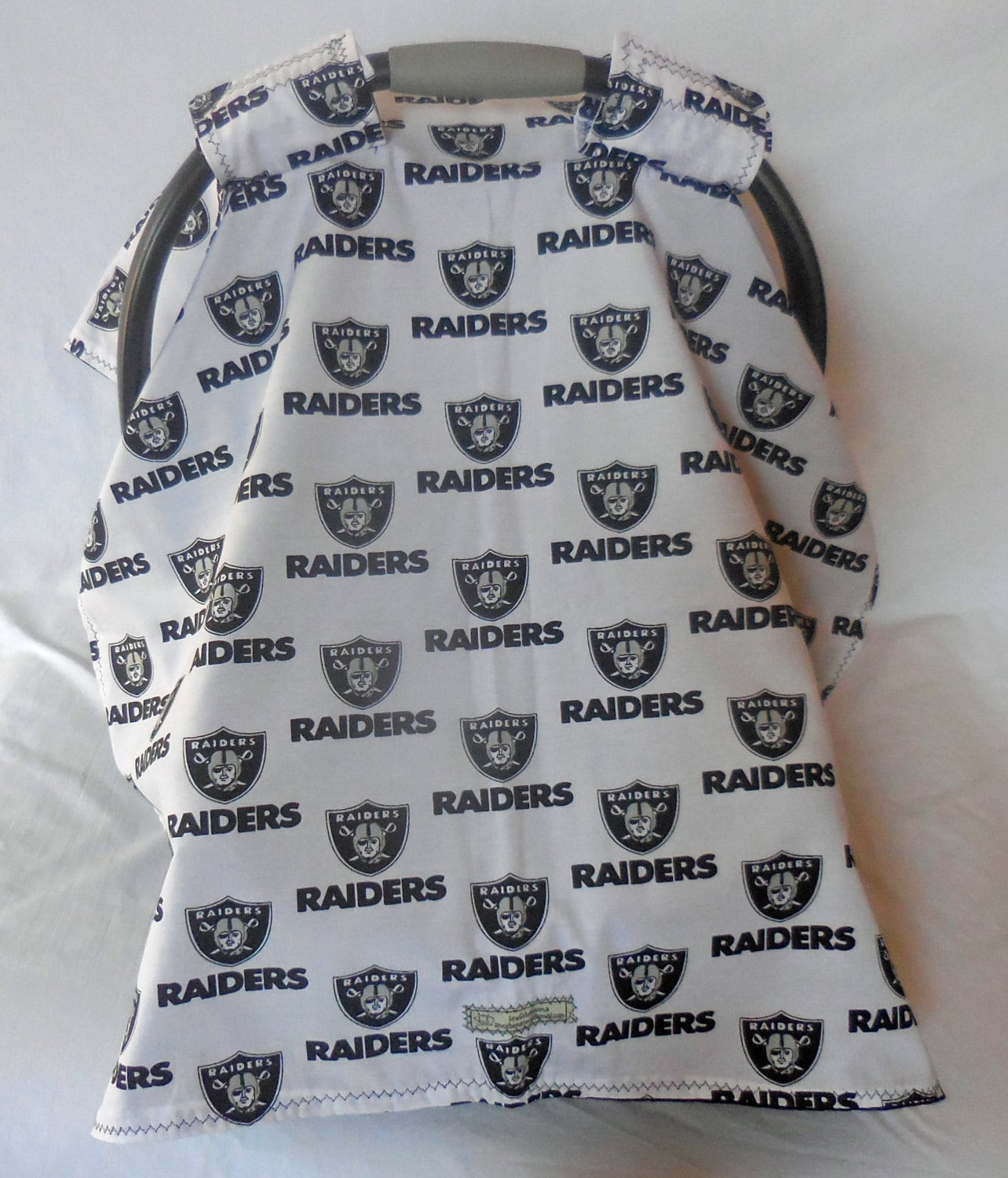 oakland raiders baby care seat cover canopy. Black Bedroom Furniture Sets. Home Design Ideas