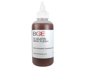 BGE Dark Flesh Special FX Gelatin for prosthetic scars and skin fx.
