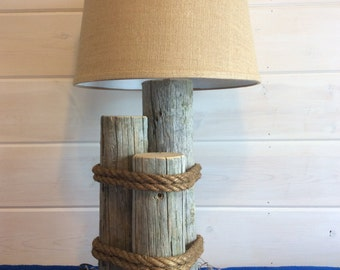 Rustic wharf lamp.Nautically themed lighting for your beach home or lake cabin.Complete your decor with this unique functional artwork.