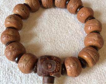 Bodhi Seed Men's Mala Bracelet, Meditation Wrist Mala, Yoga Mala Bracelet, Tibetan Wrist Mala, Buddhist Mala Bracelet