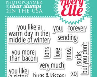 Avery Elle Clear stamps - SIMPLY SAID: LOVE