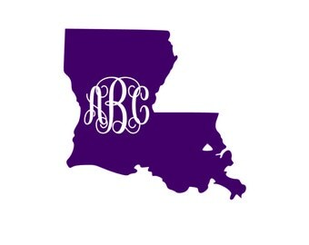 Louisiana Monogram - Vinyl Decal