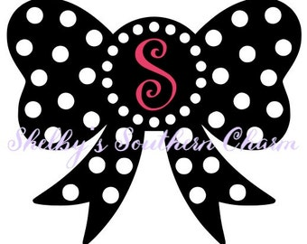 Polka Dot Bow SVG/EPS/DXF