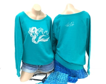 Lightweight Crewneck Santa Cruz Mermaid