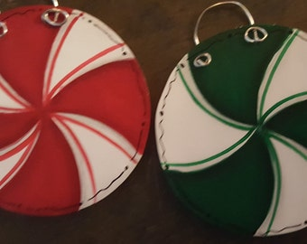 Personalized Peppermint Candy Ornament