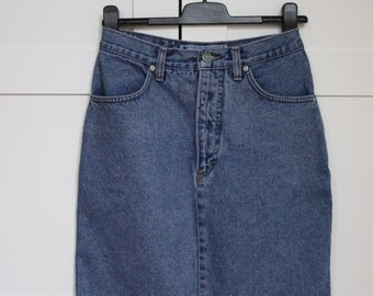 Denim Short Skirt Lucky Star Pencil Skirt High Waisted Skirt